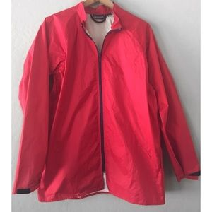 Patagonia Jackets & Coats - PATAGONIA RED FULL ZIP WINDBREAKER RAIN JACKET L